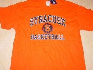 Cuse Syracuse University Basketball Orange T Shirt New Tags Sz