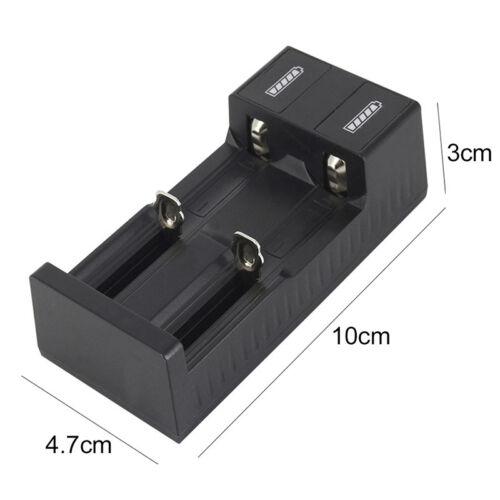 USB Port Dual Slot Universal Battery Charger For 3.7V 18650 26650 14500 Li-ion E