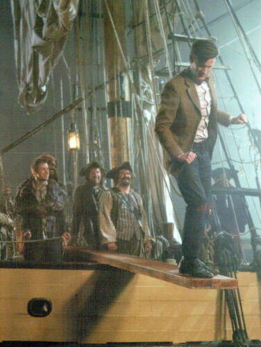 P130x Postcard Dr WhoThe Doctor Walks the Plank