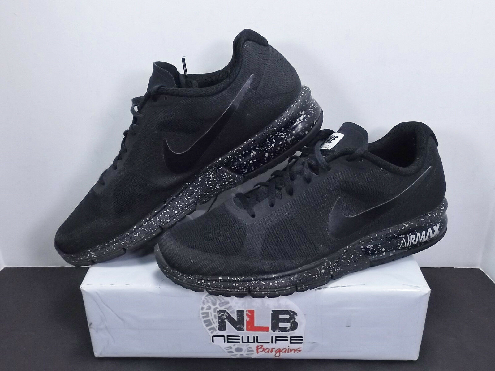 Nike Air Max Sequent PRM Black 839731-001 Men's Sz 11 CLEANKICKS