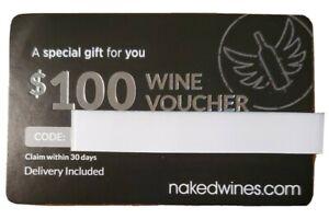 Nakedwines Com 100 Gift Card Voucher Free Shipping Ebay