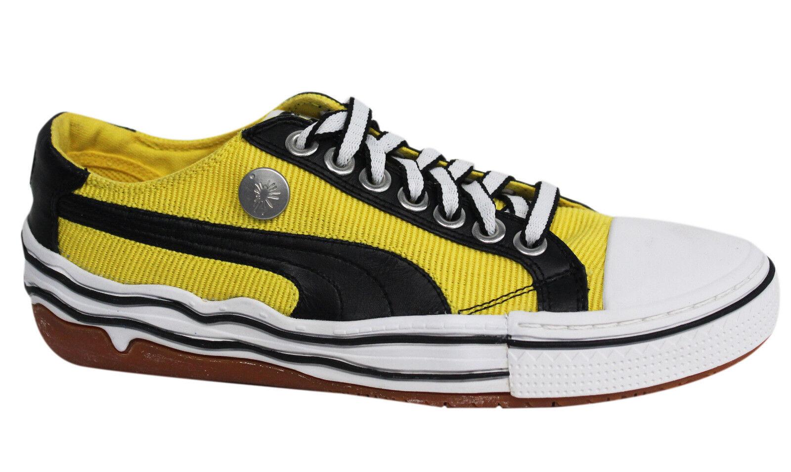 Puma Mihara Yasuhiro My 41 gelb schwarzer Schnürschuh Herren Turnschuhe 347808