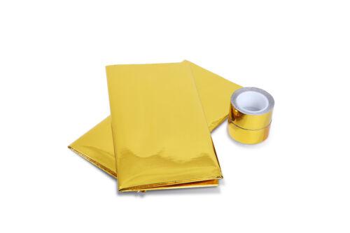 REFLECTIVE GOLD HEAT SHIELD THERMAL RACING ENGINE 20/'/' x 20/'/' Adhesive 2 Rolls