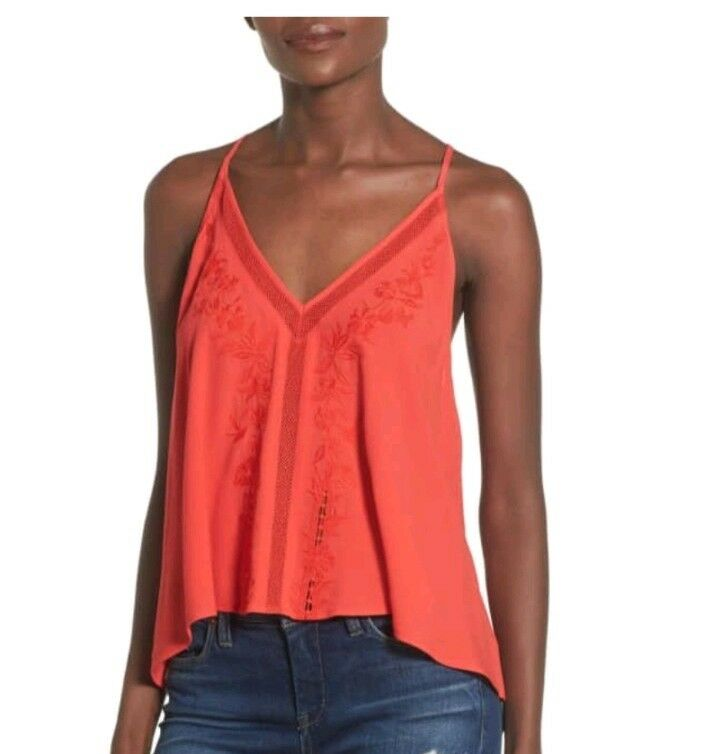 ASTR Embroiderot Tie Back Tank