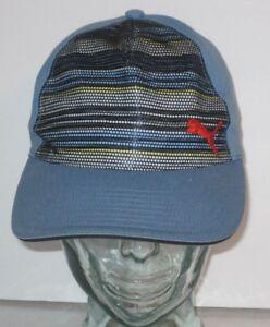 5ffffd4fd61 Image is loading PUMA-Blue-cotton-Snapback-Baseball-Cap-Youth-OSFA