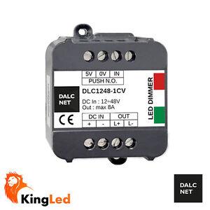 Dimmer-a-Pulsante-Dalcnet-Easy-DLC1248-1CV-8A-DC12V-48V-con-Memoria-2044