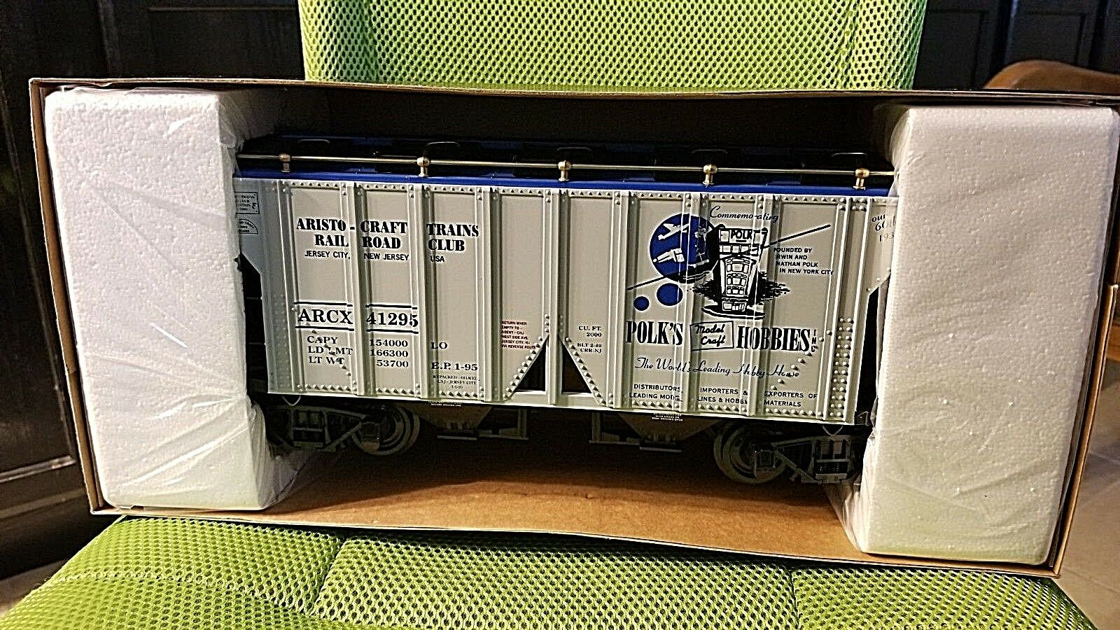 ARISTO CRAFT ART-412965 1995 Railroad Club 2-Bay Covered Hopper Car