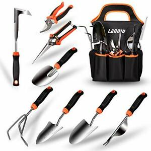 Piece Stainless Steel Heavy Duty Gardening Tool Set with Non Slip Rubber Grip