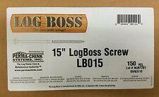 "LOG BOSS HOG, 15"" Timber Landscaping,  Log Home Cabin, Heavy Duty Screw OMG"
