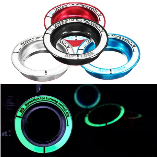 LED Luminous Car Ignition Key Hole Ring Coil Switch Decor Sticker For Ford Focus