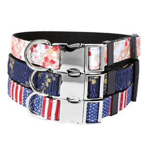Personalized-Customized-Dog-Cat-Pet-Puppy-Collar-Printed-Floral-Vintage-Style