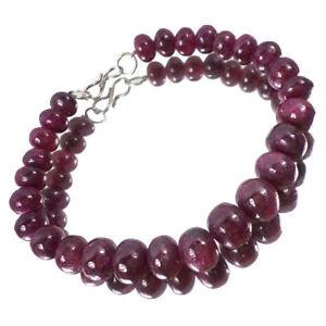Natürliche Cab 8 Armband Round Lange Rote ~ Handgemachte Perlen Ruby ym80wNnvPO
