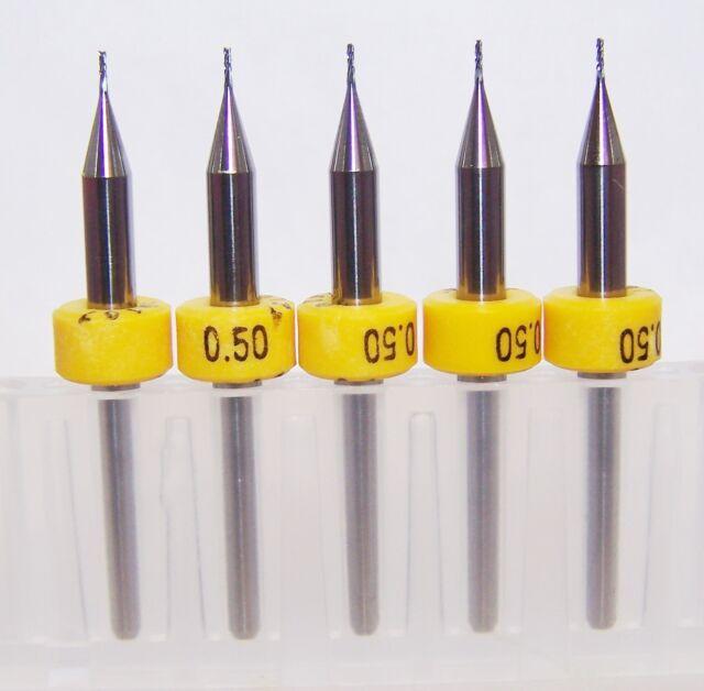 "(5) 0.50mm (.0197"") CARBIDE DIAMOND-CUT ROUTER BURRS Kyocera Tycom"