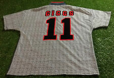 Manchester United football medium mans vintage 1995 giggs no11 away jersey wales