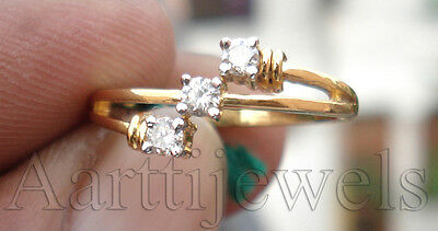 0.30ct Diamond 14k Yellow Gold Rich Look Designer Cute Engagement Ring
