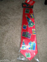 Christmas House Red Musical Gift Design Men's Neck Tie Plays Jingle Bells