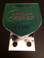 LAND ROVER OWNER CLUB CAR BADGE SERIES 1 2 3 CHROME PLATED AUTOMOBILIA RAC AA