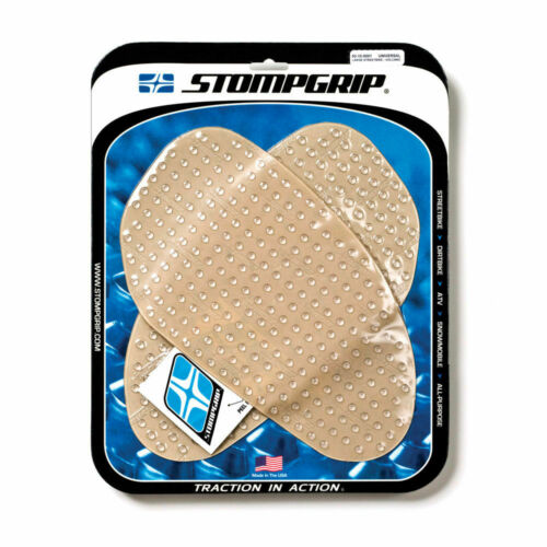 """STOMP GRIP Universal Large Streetbike Traction Pad Kit 6.75/"""" x 11.75/"""" Clear"""