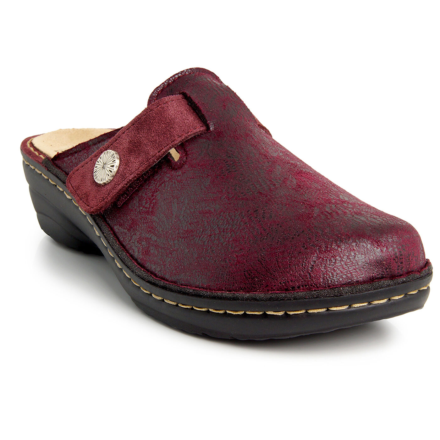 Batz IRENE 2 Raspberry Damenschuhe Leder Slip On Sandales Mules Clogs Sandales On Slippers Schuhes bf2427