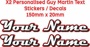 Your Name Personalised Guy Martin Text Style Decals Stickers Custom