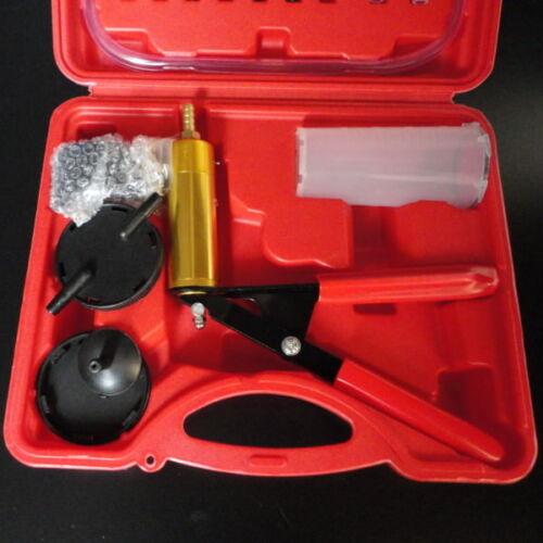 Brake Bleeder Tester Hand Held Vacuum Pump Set Car Motorcycle Garage Tool Novel