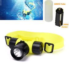 Newest LED 3000Lm Waterproof T6 Diving Swimming  Headlamp Headlight Light