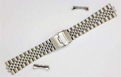 Ehrgeizig Seiko 22mm Divers Jubilee Stainless Steel Watch Strap / Band Curved End (se-11) SchnäPpchenverkauf Zum Jahresende