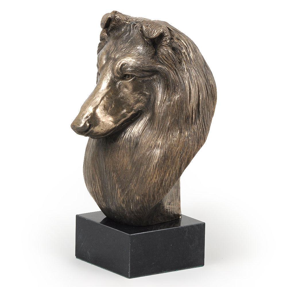 Chien de berger berger de écossais, statue miniature / buste de chien, limitée, Art Dog FR deed0f