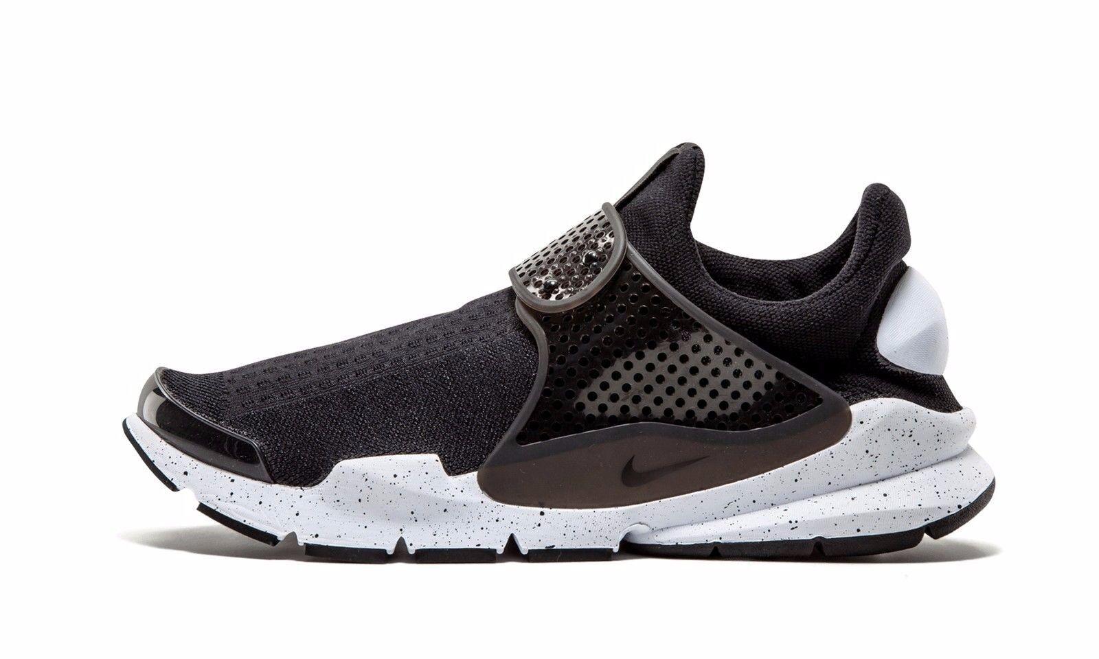Nike sock dardo se 833124-001 nero bianco e 'scarpe da ginnastica us7