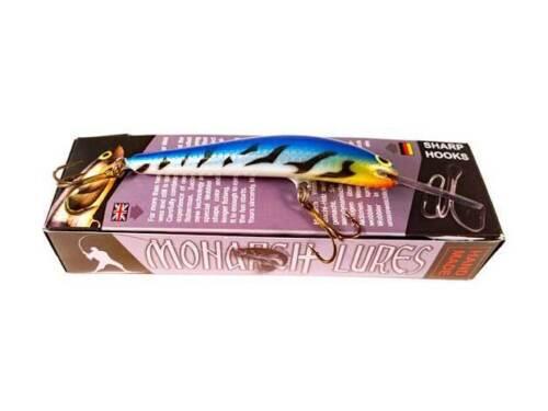 Handmade Wobbler Monarch Nemo 7 tieflaufend aus Abashi Holz schwimmend
