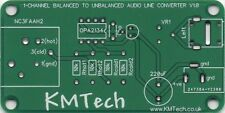Mono Balanced to Unbalanced Audio Converter ULTRA LOW NOISE PCB ONLY DIY