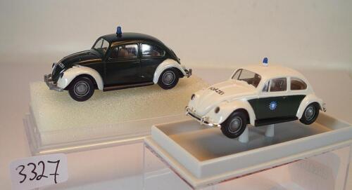 Brekina 1//87 2 x VW Escarabajo 25200 policía /& 25205 policía Baviera OVP #3327