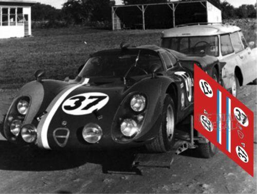 Calcas Alfa Romeo 33//2 Le Mans test 1968 1:32 1:24 1:43 1:18 64 87 slot decals