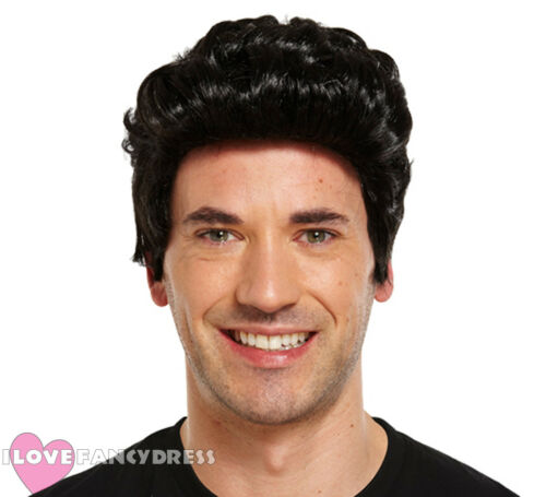 MENS 1950/'S TEDDY BOY WIG ADULT FANCY DRESS COSTUME ACCESSORY FILM MUSICAL