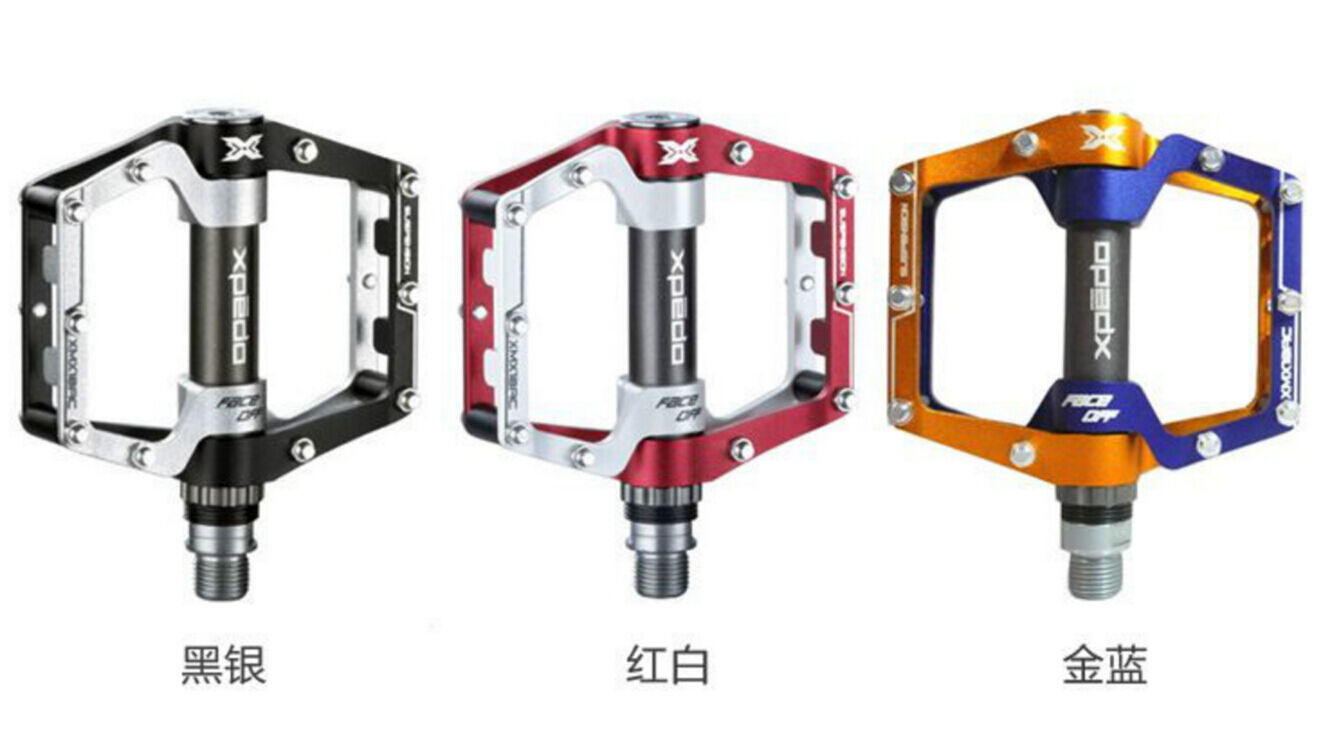 Xpedo XMX18AC FACE OFF Aluminium pedals for strada bicicletta MTB Cr-Mo Spindle 9 16 in