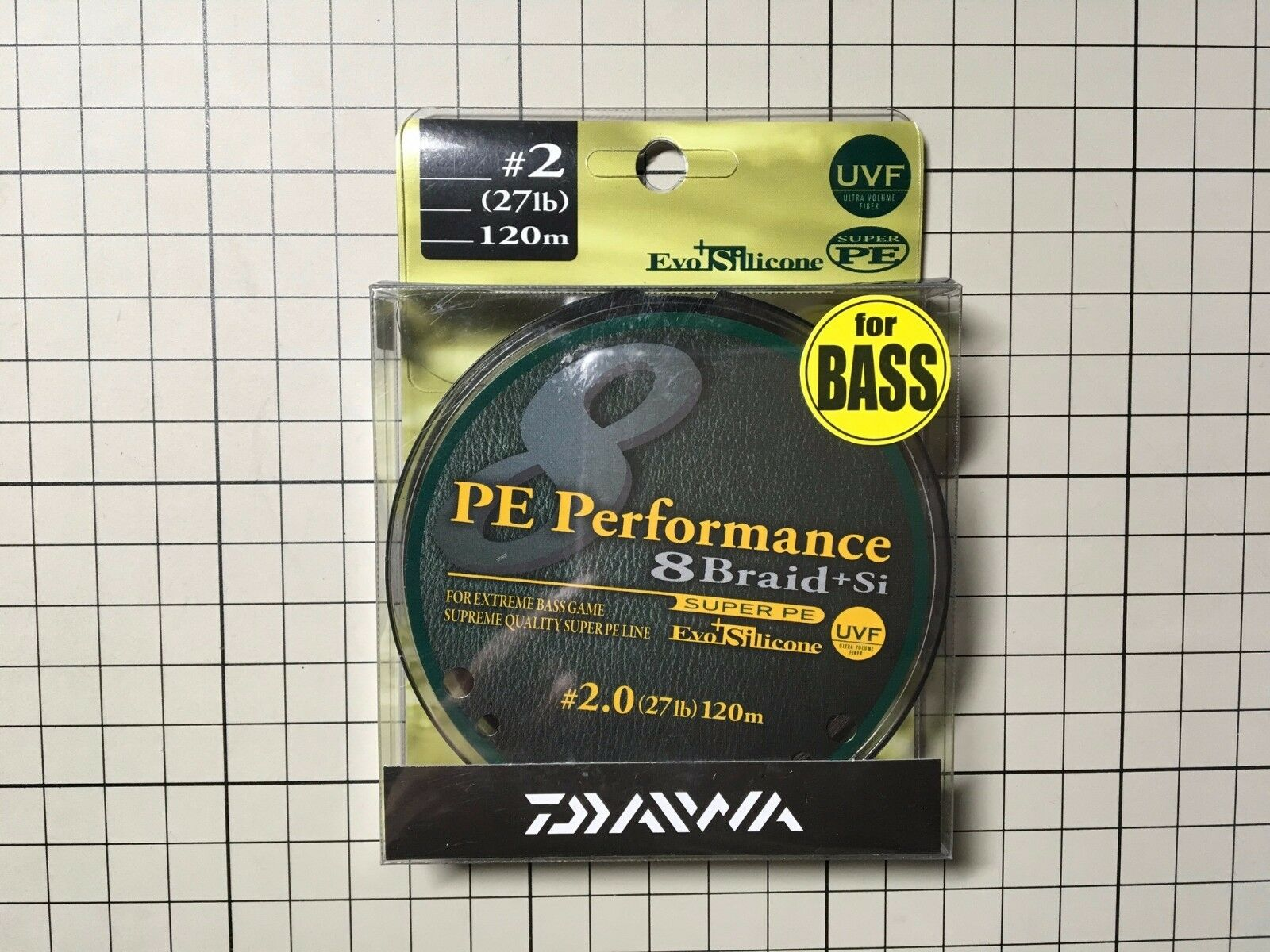 Daiwa PE performance 8 Braid Si UVF bass special line  2 (27lb) 120m