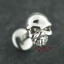 Piercing oreja Tragus mejilla labio Helix motivo calavera Skull 1,2 labretohrstecker