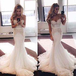 trumpet wedding dress with straps