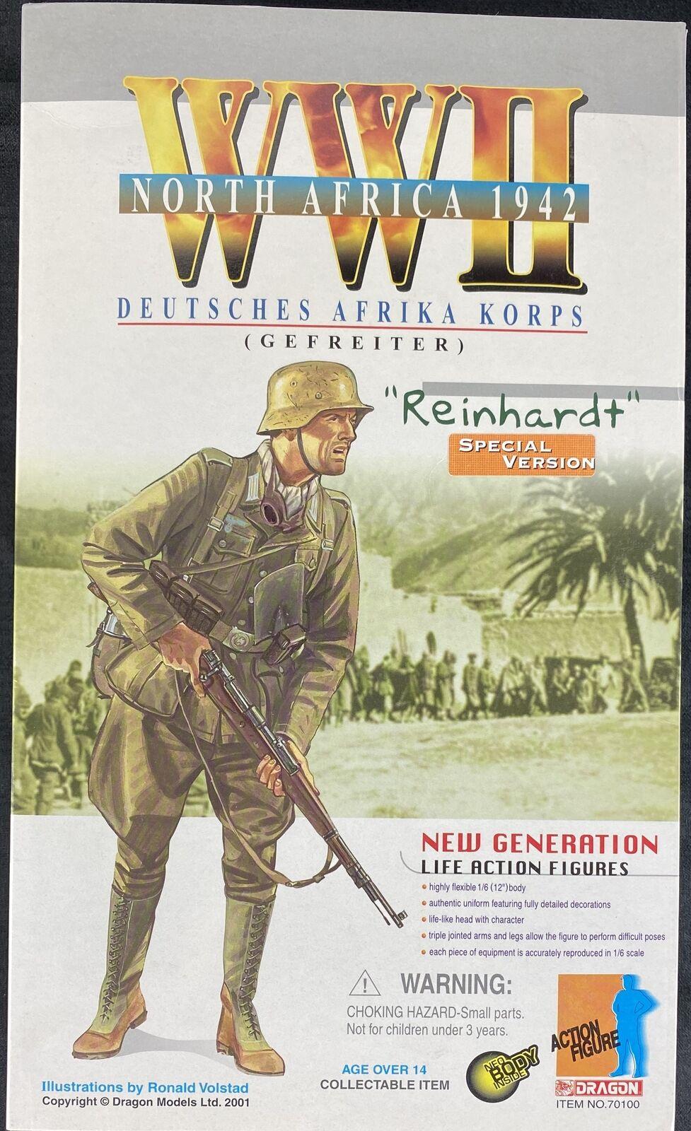 DRAGON Models 1 6 WWII SPECIAL VERSION REINHARDT DEUTSCHES AFRIKA KORPS  70100