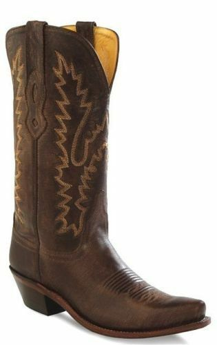 LADIES OLD WESTERN WEST DARK BROWN DISTRESSED WESTERN OLD COWGIRL BOOT LF1534 73e790