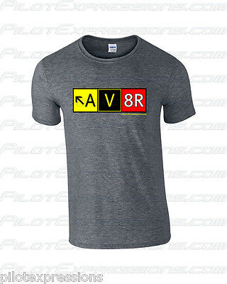 Airport Taxiway Sign Aviation T-Shirt! Aviator AV8R Pilot Shirts! Pilot Gifts!