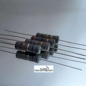 2x Jantzen Mox Metalloxidwiderstanden 3,60 Ohm, 5 Watt