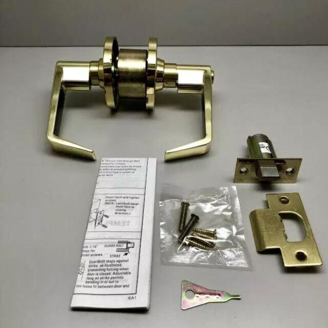 Legend Entry Locksets Passage Door Knob Grade 3 Polished Brass Finish 2 pack