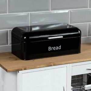 Official Website Kitchencraft Printed Steel Bread Bin Latest Technology Maison
