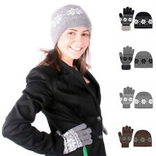 Ladies Nordic Winter 2-Piece Hat & Gloves Gift Set in 6 Colors