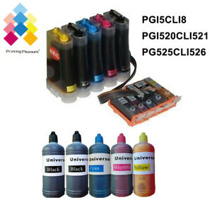 LOT-CISS-refillable-ink-cartridge-Non-oem-for-Canon-MG5250-MP640-IP4500-MP510