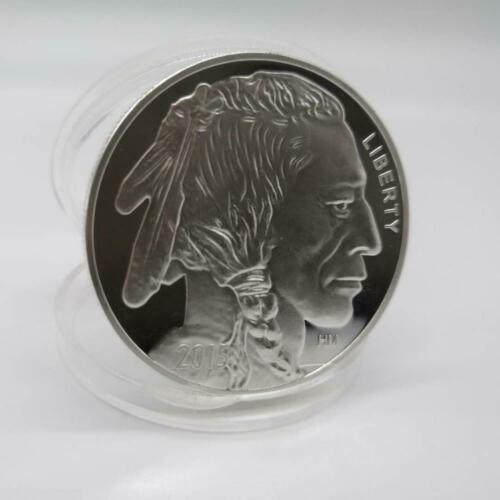 Indian Buffalo BU 1 oz .999 Silver Round-LIMITED USA MADE AMERICAN COIN 2015