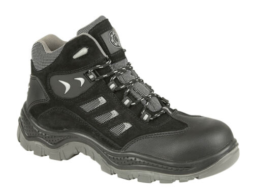 Security Line Rhone 4114 S1P SRC Black Metal Free Composite Toe Cap Safety Boots