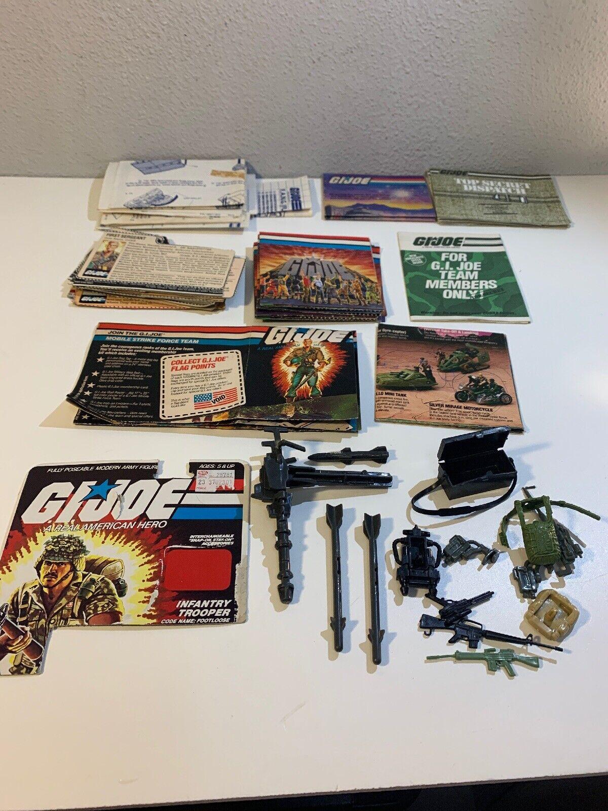 Big Lot Of Vintage Gi Joe File Cards, Battle Series, Manuels, Mobile Strike Team