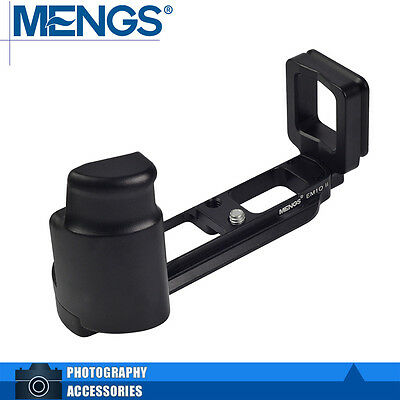 MENGS E-M10 II L-Shaped Quick Release Plate with Hand Grip For Olympus E-M10 II